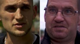 Two men in Leeds