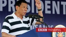 President Rodrigo Duterte of the Philippines