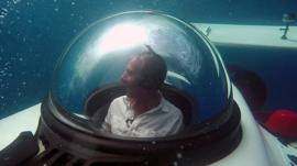 Richard Taylor in the Dragon personal submarine