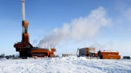 Conoco-Phillips oil rig in Alaska