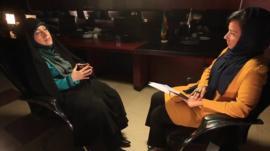 Iranian Vice-President Masoumeh Ebtekar and the BBC's Kim Ghattas