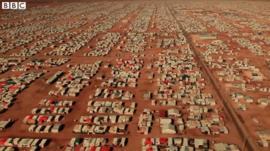 シリア人8万人の難民キャンプ