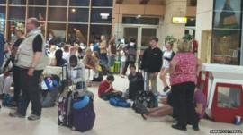 Tourists at Sharm el-Sheikh airport - courtesy of Sarah Cotterill