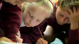 Children rewriting Cinderella