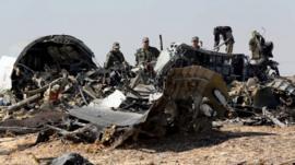 Debris from Russian plane - file image