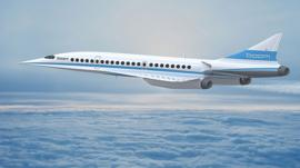 Image of a Boom supersonic jet