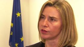 EU foreign policy chief, Federica Mogherini,