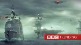 US warships in video