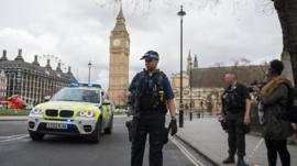 The moment the area around the Houses of Parliament evacuated following reports of shots fired.