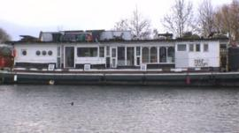 Cabins on the converted coal barge cost £29 a night