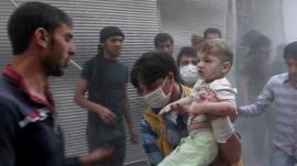 An injured child