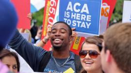 Supporter of Obamacare at the Supreme Court