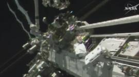 Tim Peake taking a spacewalk