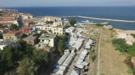 Refugee camps on Chios