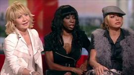 Lulu, Heather Small and Anastacia