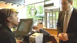 Starbucks boss orders a coffee
