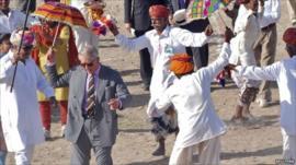Prince Charles dancing
