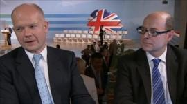 William Hague and Nick Robinson