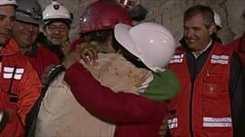 Mario Sepulveda is the the second miner to be rescued