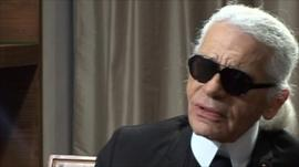 Karl Lagerfeld, creative director for Chanel