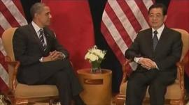 President Barack Obama and President Hu Jintao