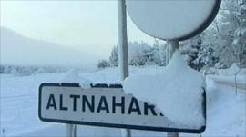 Altnaharra place sign