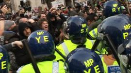 Protests in Westminster