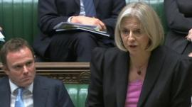 Theresa May says use of water cannons