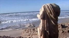 A headless marble statue found in Israel