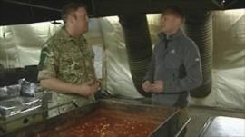Sgt Nick Watkins speaks to Quentin Sommerville