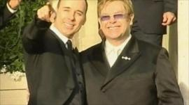 Sir Elton John and his partner David Furnish