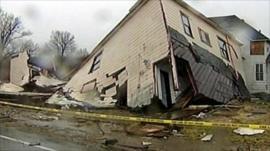 House damaged by tornado