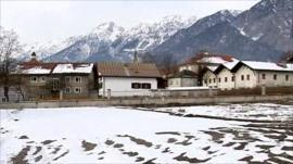 Grounds of psychiatric hospital in Tyrol province