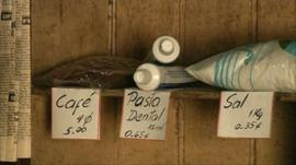 Shop shelf in Cuba