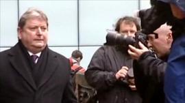 Eric Illsley arrives at Southwark Crown Court