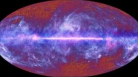 Image of the universe, captured by the Planck Telescope