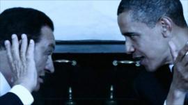Hosni Mubarak and Barack Obama