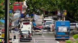 Bus bombed at Tavistock Square