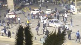 Protesters in Tripoli
