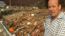 The BBC's Alastair Leithead in Minamisanriku