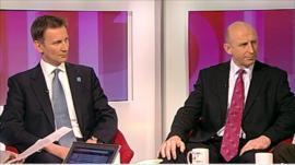 John Healey and Jeremy Hunt
