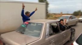 Anti-government Libyan protesters