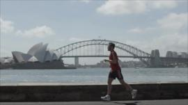 Will Young running in Sydney