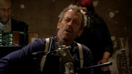 Hugh Laurie performing a track from his new blues album