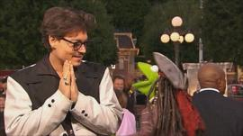 Johnny Depp and Kermit the Frog