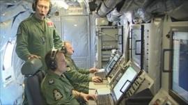 On board Sentinel spy plane