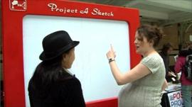 Project A Sketch: a giant electronic copy of the Etch A Sketch game