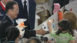 Chinese leader and quake victims