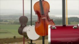 Musical instruments powered by the wind