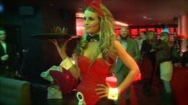 Waitress in Playboy club